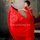 modern red chiffon one shoulder a-line floor length evening dress 11