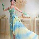 modern sexy chiffon spaghetti straps a-line floor length prom dress y-052