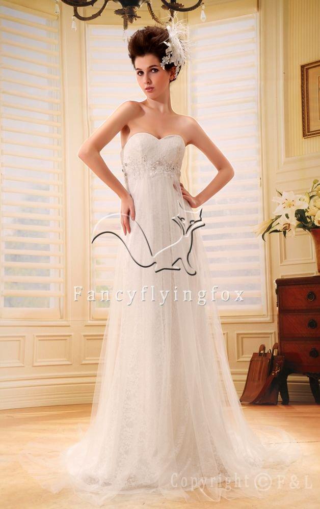 charming empire net sweetheart maternity wedding dress F-094
