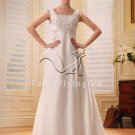 elegant straps a-line chiffon beach casual wedding dress F-110