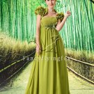 elegant light green chiffon empire maternity evening dress with bolero L-021