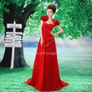sexy red chiffon sweetheart empire maternity prom dress with bolero L-021