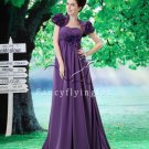 charming purple chiffon sweetheart empire evening dress with ruched bust L-021