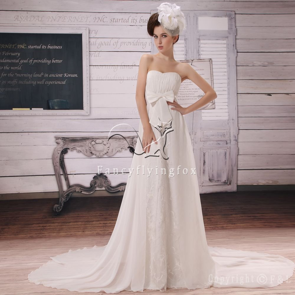 inexpensive shallow sweetheart chiffon a-line floor length wedding dress Y-012