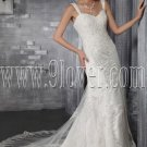 2013 vintage straps a-line floor length lace wedding dress IMG-2883