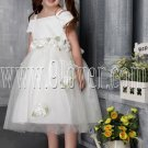 adorable white satin and tulle straps ball gown flower girl dresses IMG-2488