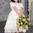 adorable jewel neck a-line tea length short sleeves baby flower girl dresses IMG-2540