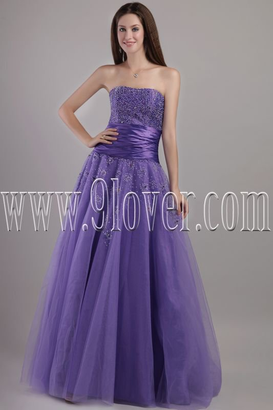 charming lavender strapless column floor length prom dress IMG-2066