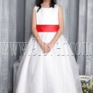 stunning white tulle jewel neck a-line floor length flower girl dress IMG-2690