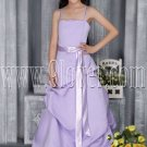 gorgeous lavender satin spaghetti straps a-line floor length prom dress IMG-2854