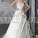 exclusive satin strapless a-line floor length wedding dress IMG-2665