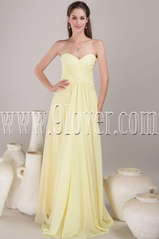 stunning daffodil chiffon sweetheart a-line floor length evening dress IMG-4529