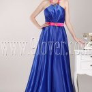 modern royal blue satin halter a-line floor length formal evening dress IMG-4750