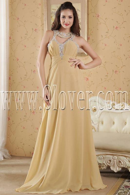 daffodil chiffon straps a-line floor length prom dress IMG-5184