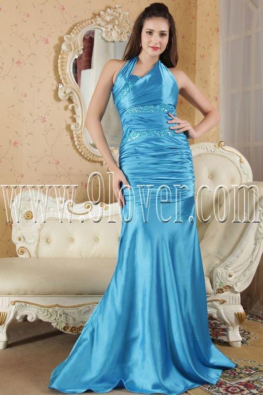 a-line floor length halter floor length blue evening dress IMG-5255