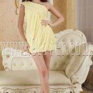 daffodil chiffon one shoulder mini length cocktail dress IMG-5287