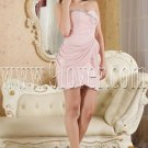 modern pearl pink chiffon sweetheart a-line mini length cocktail dress IMG-5352