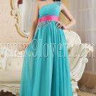 stunning blue chiffon one shoulder a-line floor length formal evening dress IMG-5381
