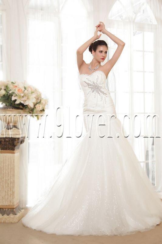 2013 vintage sweetheart trumpet mermaid wedding dress IMG-5563