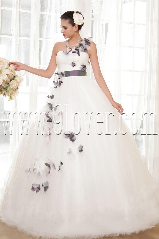 fairy tale one shoulder ball gown floor length wedding dress IMG-5592