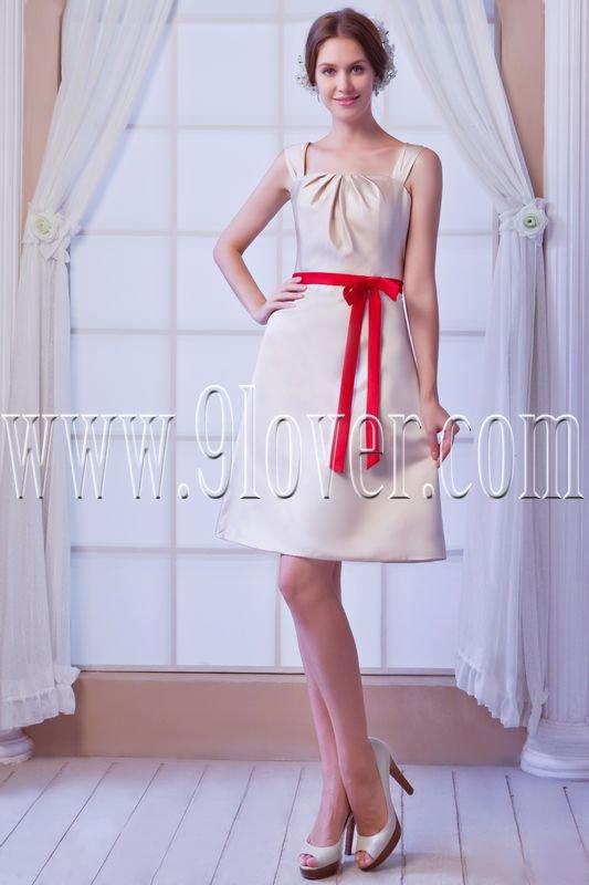 elegant satin straps a-line mini length homecoming dresses IMG-8155