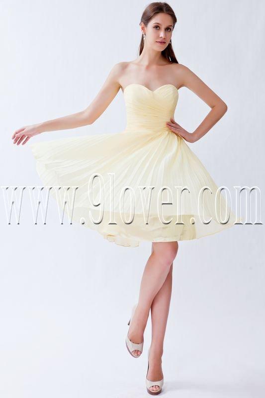 elegant daffodil chiffon sweetheart a-line mini length homecoming dress IMG-8266