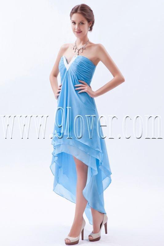 high low hem sky blue chiffon a-line tea length prom dress IMG-8593