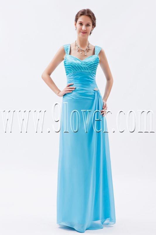 column floor length sky blue chiffon straps long prom dress IMG-8694