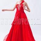 a-line floor length red chiffon one shoulder formal evening dress IMG-9065
