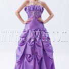violet taffeta strapless a-line floor length pageant dress IMG-9087