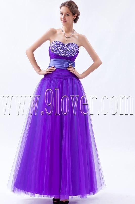 stunning regency tulle sweetheart column ankle length prom dress IMG-9215