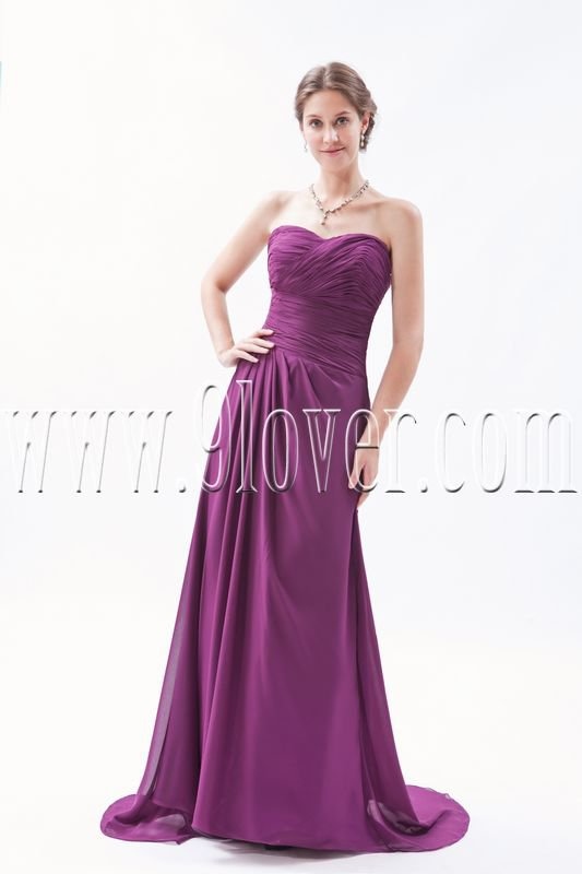 glamour regency chiffon sweetheart a-line floor length formal evening dress IMG-9275