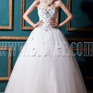 classic white tulle sweetheart a-line floor length wedding dress with beaded bodice IMG-0290