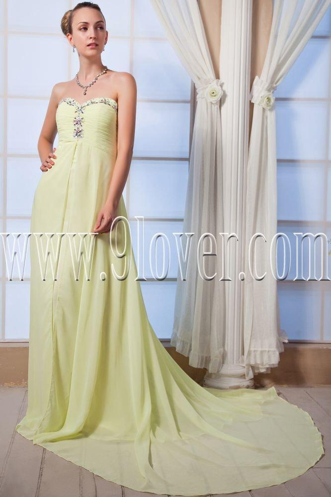 empire kelly chiffon sweetheart floor length maternity prom dress IMG-0009