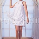 a-line mini length white chiffon straps homecoming dress IMG-0218