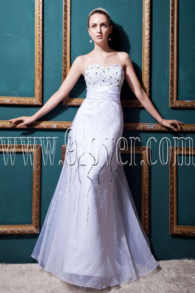 stunning white organza sweetheart a-line floor length wedding dress IMG-0406