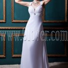 stunning white chiffon straps a-line floor length beach wedding dress IMG-0427
