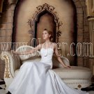 exclusive white chiffon spaghetti straps a-line floor length wedding dress IMG-1741