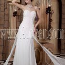 exclusive white chiffon sweetheart a-line floor length wedding dress IMG-1800