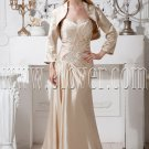 stunning light champagne satin sweetheart a-line floor length mother of the bride dress IMG-1835