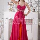 stunning fuchsia chiffon spaghetti straps a-line floor length formal evening dress IMG-1871