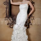 exclusive white taffeta strapless trumpet mermaid wedding dress IMG-1679