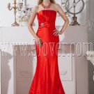 red satin trumpet mermaid floor length formal evening dress IMG-1999