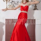 sweetheart red satin trumpet mermaid prom dress floor length IMG-2010