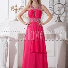 stunning fuchsia chiffon straps a-line floor length formal evening dress IMG-2067