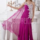 purple chiffon one shoulder a-line floor length formal evening dress IMG-2108