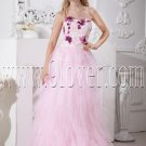 pearl pink tulle sweetheart a-line floor length prom dress with beaded bodice IMG-2198