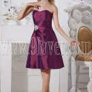 modern grape satin sweetheart neckline a-line knee length homecoming dress IMG-2303