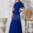 royal blue chiffon one shoulder a-line floor length formal evening dress IMG-2411