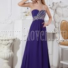 blue chiffon sweetheart neckline a-line floor length formal evening dress IMG-2487